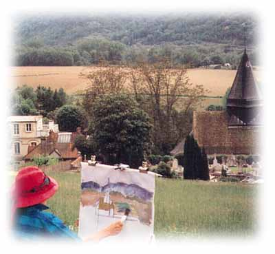 Painting on location in Giverny with ArtStudy