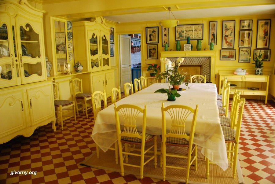 Claude Monet Giverny Sala de Jantar Amarelo